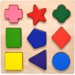 Wooden Preschool Colorful Shape Puzzle