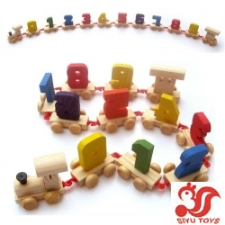 Cute Wooden Toys Adult Educational Toy Digital Train Wooden Puzzle Toys Best Gift For Kids