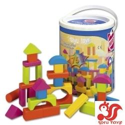 Happy Colourshero wood blocks 75 pieces