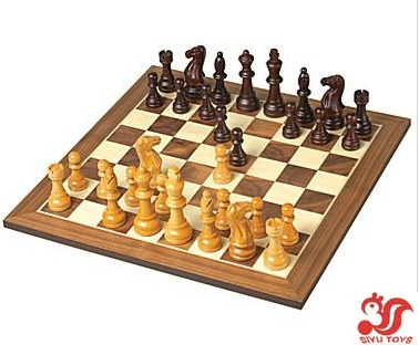 Chess set excalibur deluxe wooden - Deluxe chess sets ...