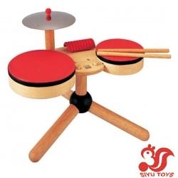 siyu  Musical Band Wooden Drum Set