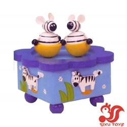 Wooden Rotating Music Box