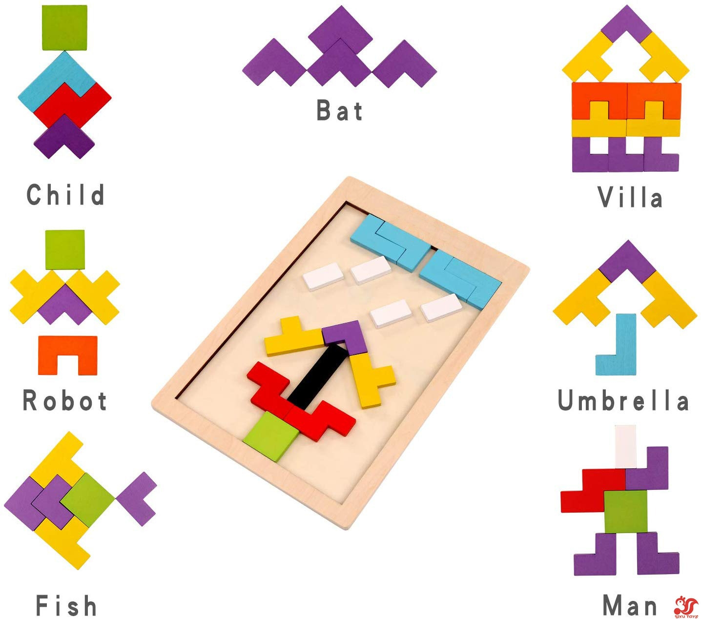 Wood Jig Montessori Geometry Block Insect Jigsaw Puzzle Educational Kid Toy Lin