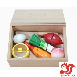 Wooden food in box