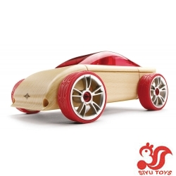 Wooden Car - C9 Red Sports Car