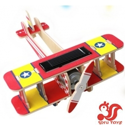 DIY Plywood Solar Helicopter,Wooden solar gift toys,Solar energy toys