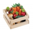 Wooden vegetable in box