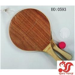 wooden rackets, wooden beach playset