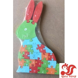 WOODEN RABIIT JIGSAW PUZZLE