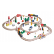 SIYU  Wooden Train Table and 110 Piece Train Set Package