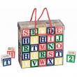 Classic learning toys and digital printing letters building blocks